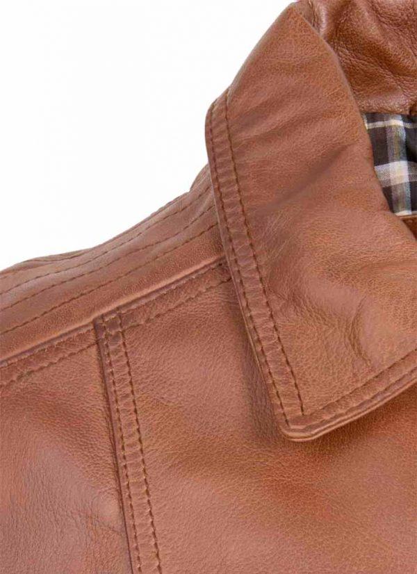 skyland brown leather jacket