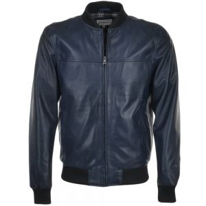 tommy-dark-blue-bomber-leather-jacket
