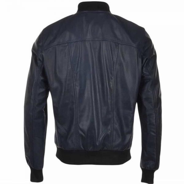 tommy-dark-blue-bomber-leather-jacket
