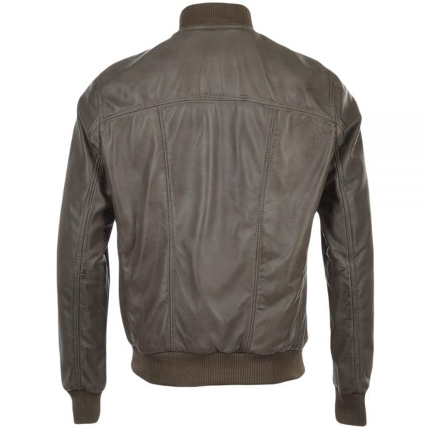 tommy-taupe-bomber-leather-jacket