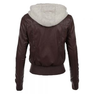jean-hooded-women-leather-jacket-brown-back