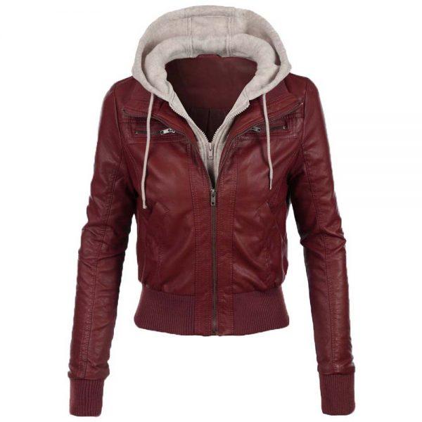 jean-hooded-women-leather-jacket-red