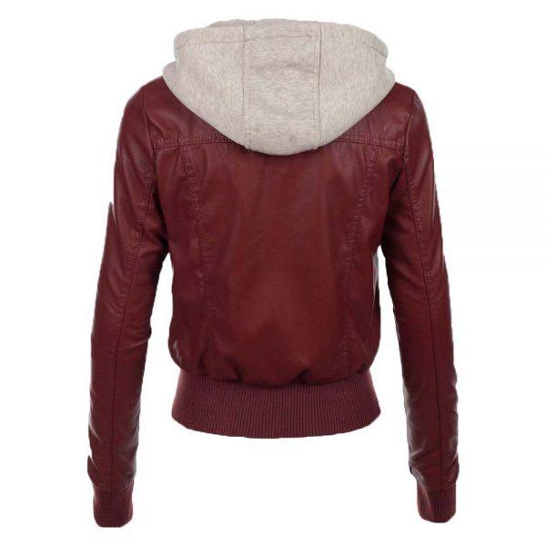 jean-hooded-women-leather-jacket-red-back