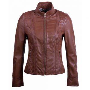 marina-brown-women-leather-jacket-front-southwear