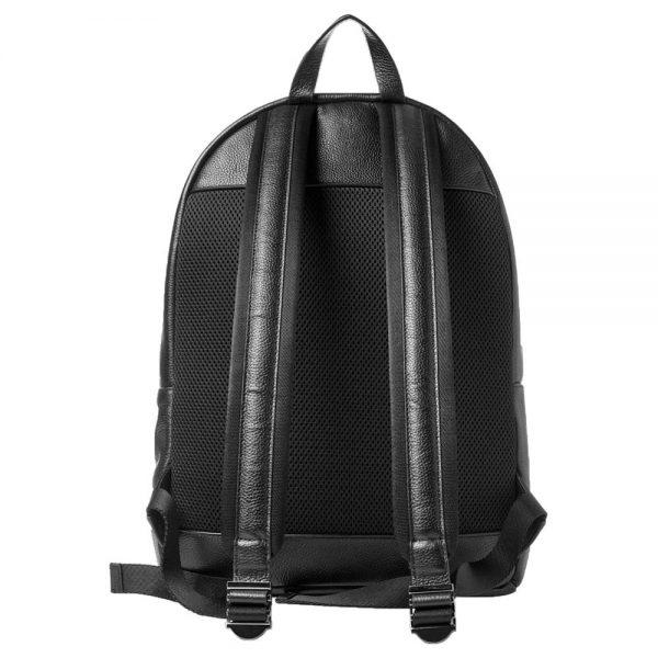 unisex-black-leather-backpack