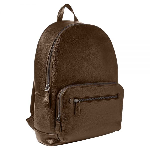 unisex-brown-leather-backpack