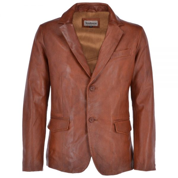 anderson-two-button-brown-leather-blazer