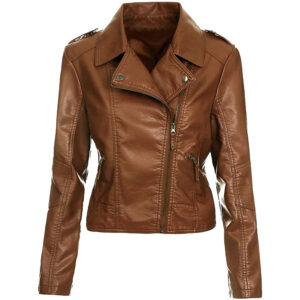 ladies-biker-jacket-brown